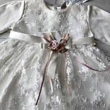 Нарядное белое платье на девочку 271. Размер 92 см, 98 см, 104 см, фото 2