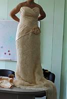 Платье с 3д принтом розы вечернее длинное свадебное