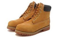 Ботинки мужские зимние Classic Timberland 6 inch Yellow Boots (тимберленд) коричневые