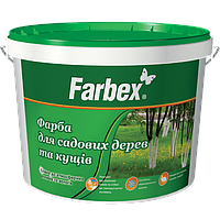 Краска Farbex для садовых деревьев и кустов белая матовая 1.4 кг