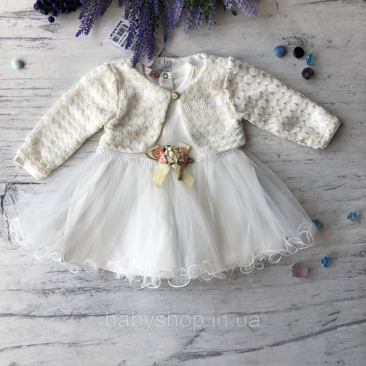 Нарядное платье на девочку 263. Размер 86 см