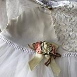 Нарядное платье на девочку 263. Размер 86 см, фото 3