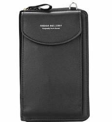 Женский кошелек портмоне клатч 3-в-1 Baellerry Forever N8591 Black