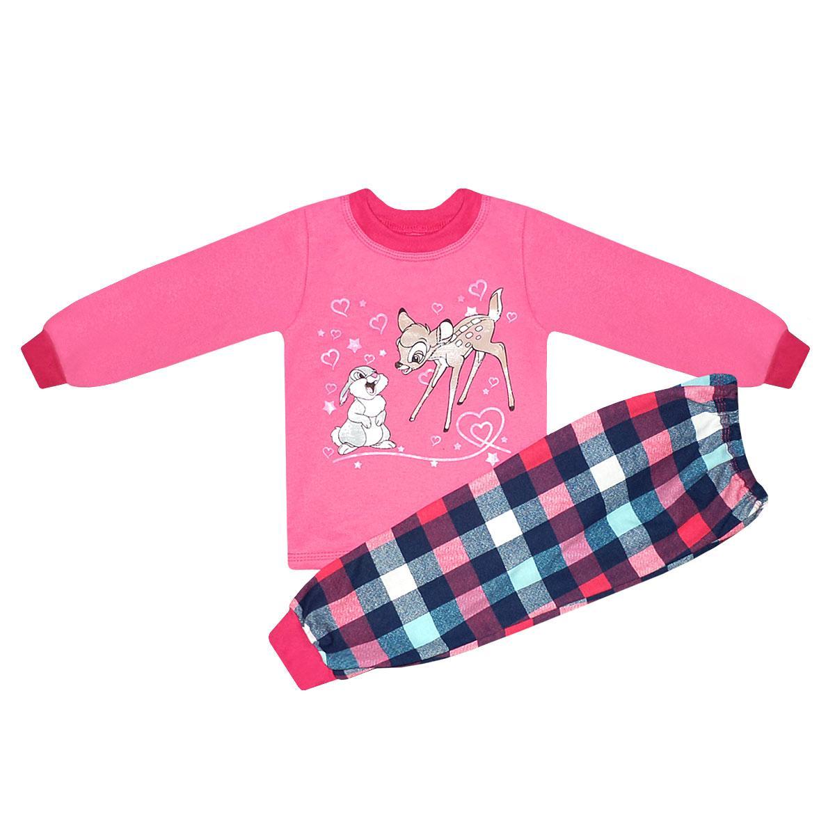 Пижама детская Бэмби для девочки начес