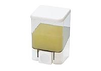 Диспенсер (дозатор) для жидкого мыла 0,5 л белый/прозрачный
