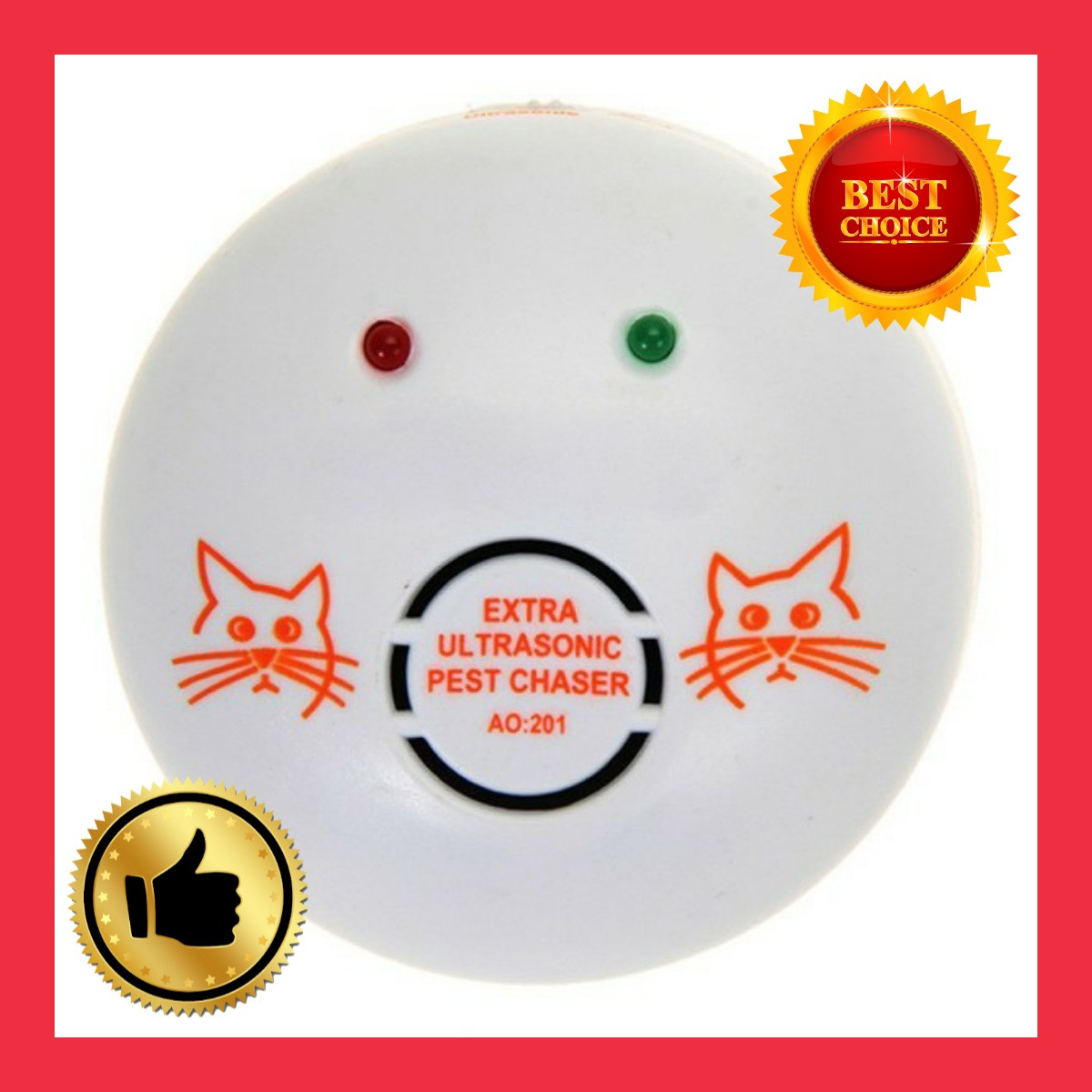 Отпугиватель от мышей и прочих грызунов AO 201 электронный кот ультразвуковой