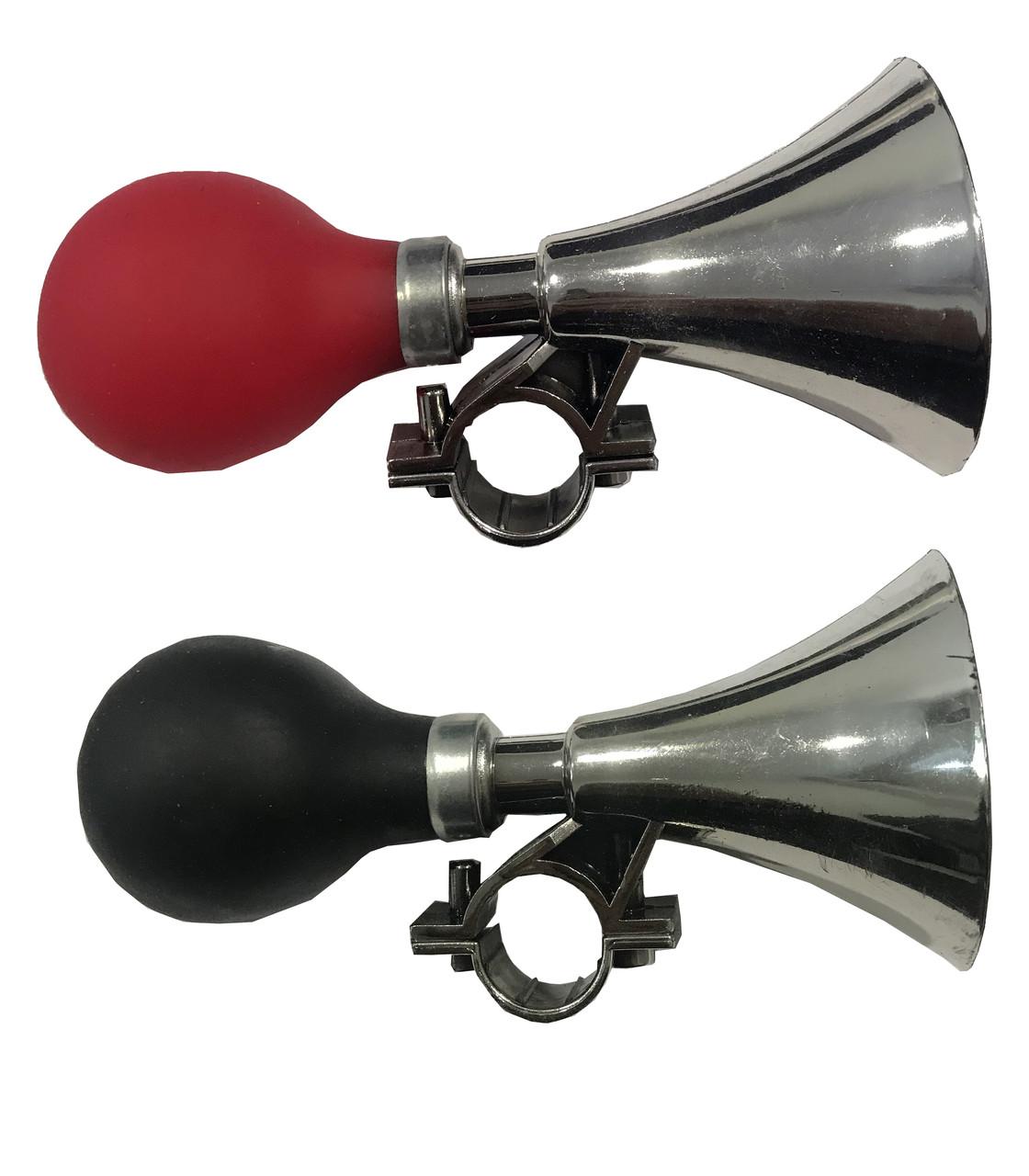 Сигнал для велосипеда красный и черный (клаксон)15 см