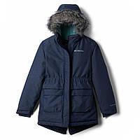 Зимняя куртка Columbia 8-16лет детская подростковая для девочки парка синяя 1557061-467