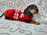 Новорічний светр для собаки з оленями та сніжинками, фото 4