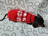 Новорічний светр для собаки з оленями та сніжинками, фото 6