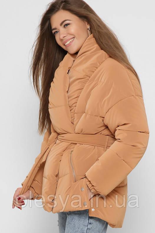 Куртка женская 8881 X-Woyz размеры 42- 52 цвет песок