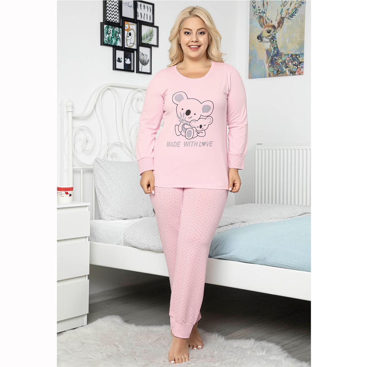 Пижама женская 2XL-4XL хлопковая с брюками большого размера Love Seyko