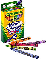 Восковые мелки карандаши смываемые, 16 цветов, Crayola (крайола)