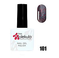 Гель-лак для ногтей Molekula 11мл №101 Красно голубое мерцание