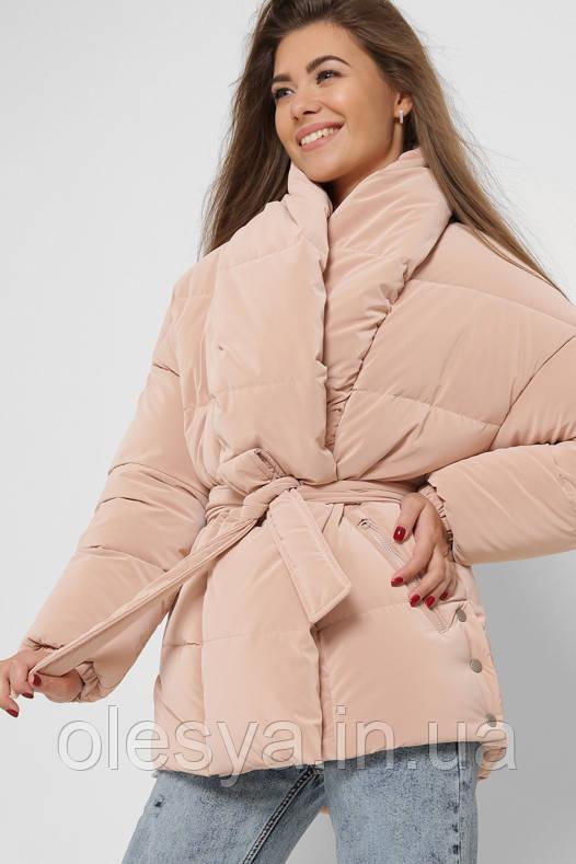 Куртка женская 8881 X-Woyz размеры 42- 52 бежевый цвет