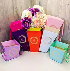 Картонные пакеты и коробки для цветов и подарков
