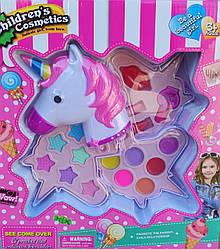Набор детской декоративной косметики розовая единорог