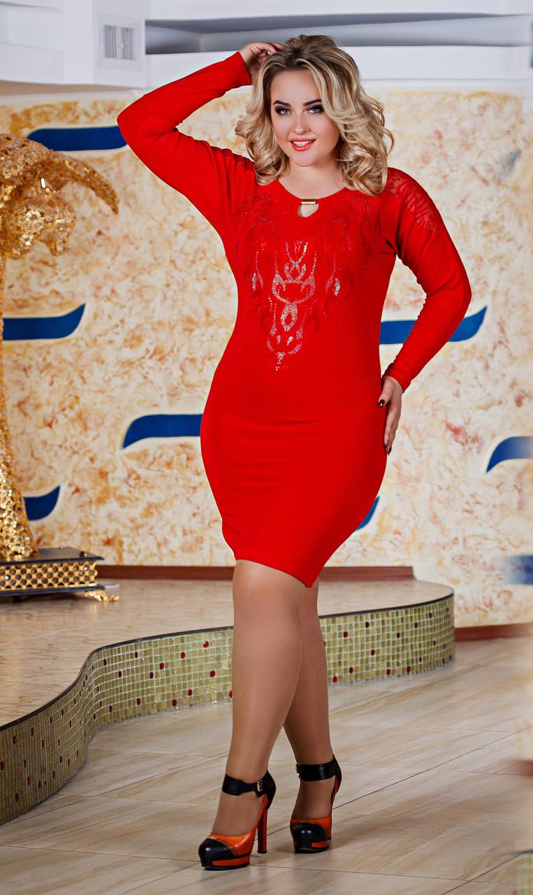 Д2588 Платье размеры 48-54 Красный