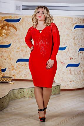 Д2588 Платье размеры 48-54 Красный, фото 2