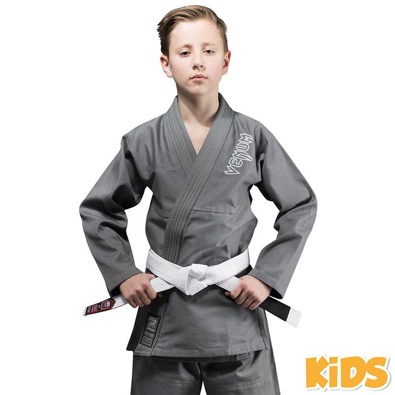 Кимоно детское для бразильского джиу-джитсу Venum Contender 2.0 Серое