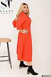 Элегантное платье в трендовый гороховый принт Размер: 50-52, 54-56, 58-60, фото 4