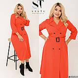 Елегантне плаття в трендовий гороховий принт Розмір: 50-52, 54-56, 58-60, фото 6