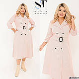 Елегантне плаття в трендовий гороховий принт Розмір: 50-52, 54-56, 58-60, фото 5
