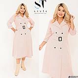 Элегантное платье в трендовый гороховый принт Размер: 50-52, 54-56, 58-60, фото 5