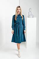 Женское замшевое платье изумруд, фото 1