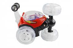 Перевёртыш трюковая машинка на радио пульте управлении с световыми эффектами красный Limo Toy