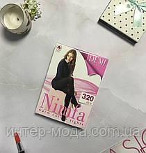 """Хлопковые тёплые колготы """"Nimfa"""" 320 DEN черный 4"""