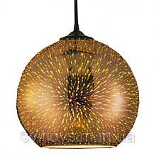 Світильник підвісний QUANTUM Е27 3D-ефект мідь коло