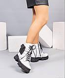 Деми ботинки женские белые, фото 2