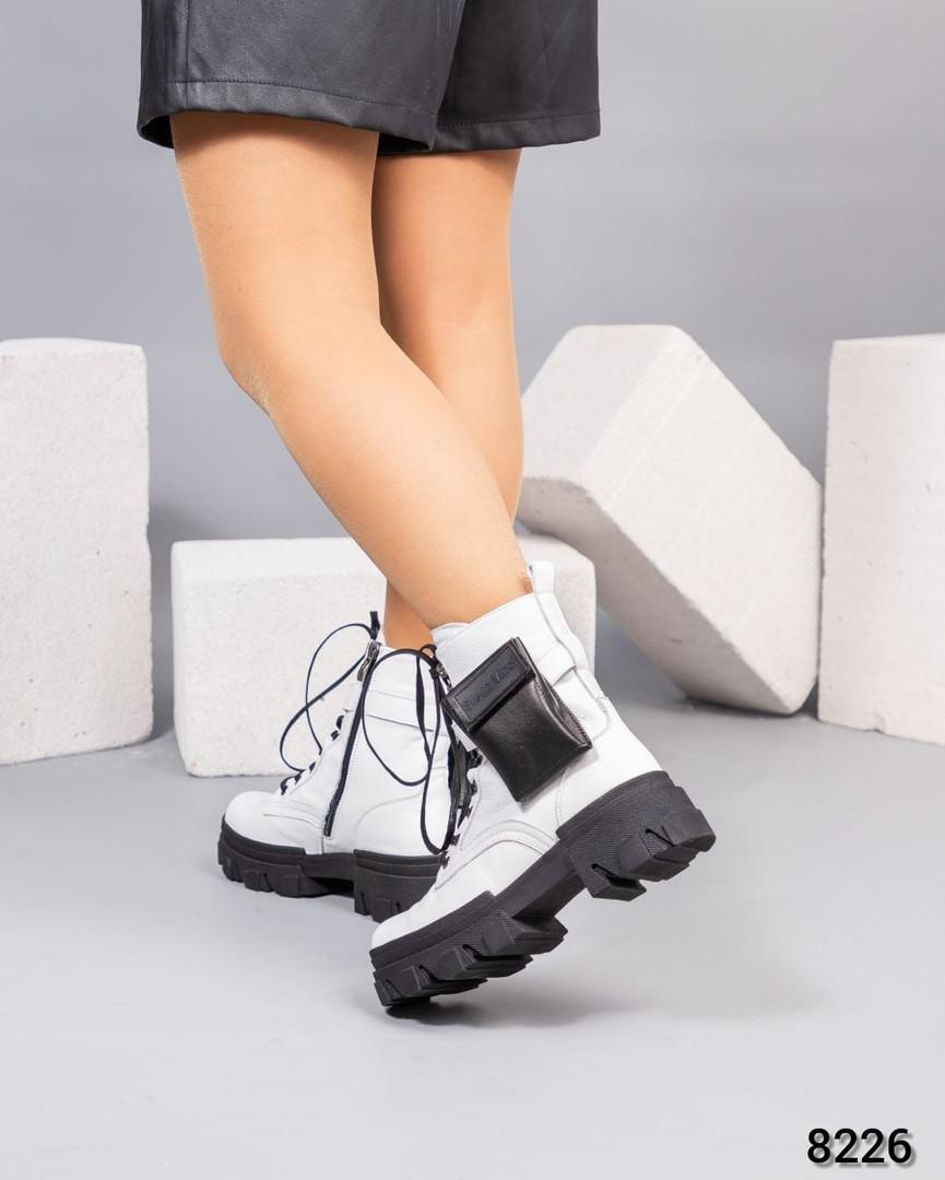 Деми ботинки женские белые
