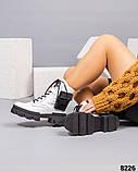 Деми ботинки женские белые, фото 3
