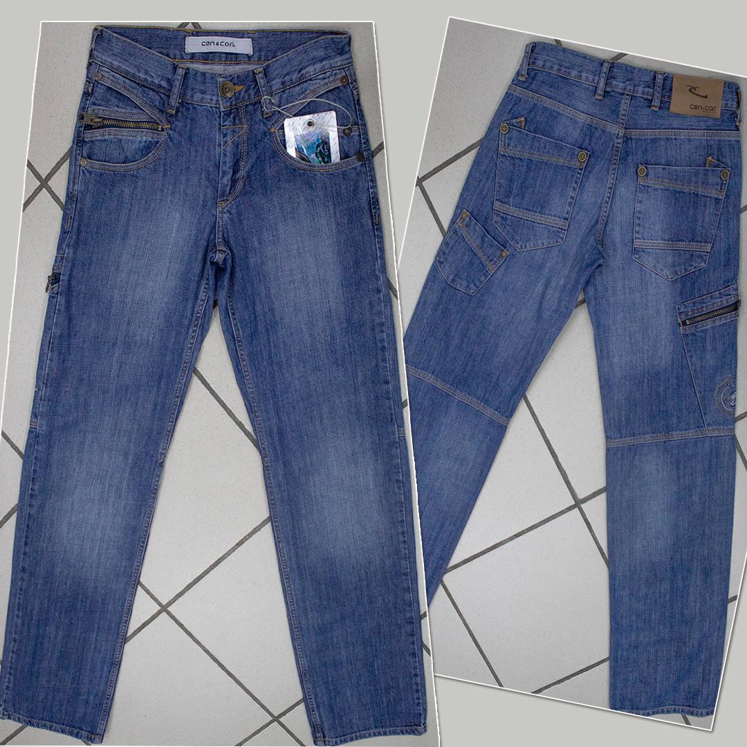 Джинсы мужские Cen & Cor с накладными карманами синие