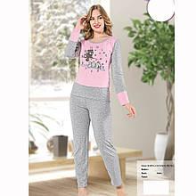 Піжама жіноча бавовняна з брюками Ведмедики SeykoS-M, L-XL