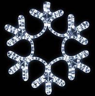 Светодиодная Снежинка 28 см, цвет - холодный белый