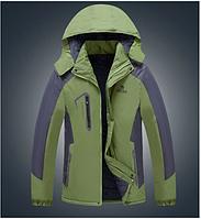 Мужская подростковая демисезонная ветро-влагозащитная куртка с капюшоном р.44, фото 1