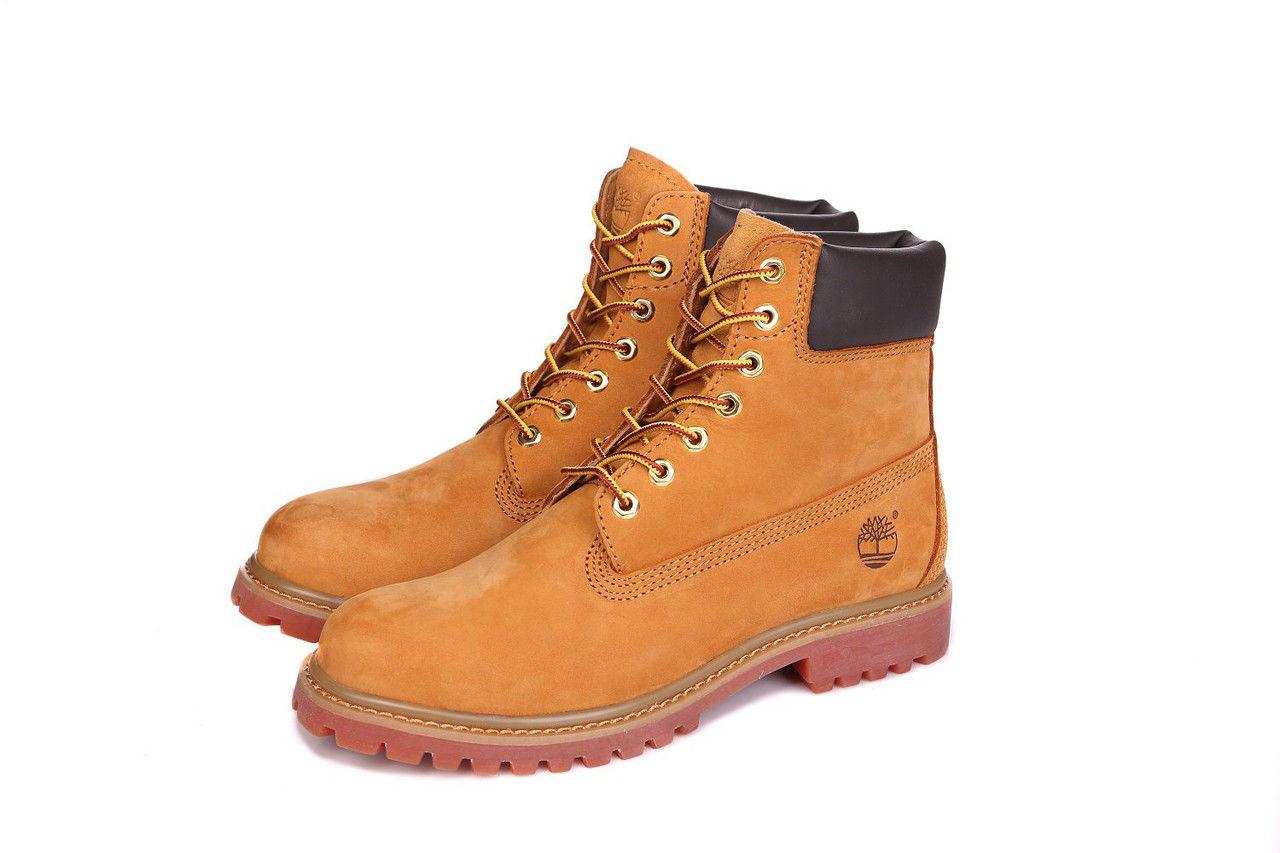 273e47a44551 Ботинки мужские Timberland 6 inch Yellow Lite Edition (тимберленд)  коричневые