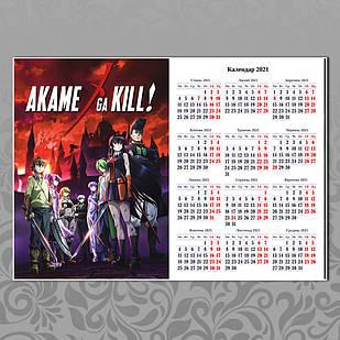 Плакат-календарь Akame ga kill 04