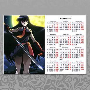 Плакат-календарь Akame ga kill 06