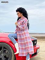 Стильная женская рубашка-пальто 0428 (47)