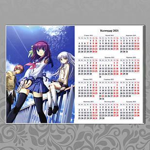 Плакат-календарь Angel Beats 04