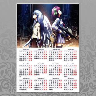 Плакат-календарь Angel Beats 05