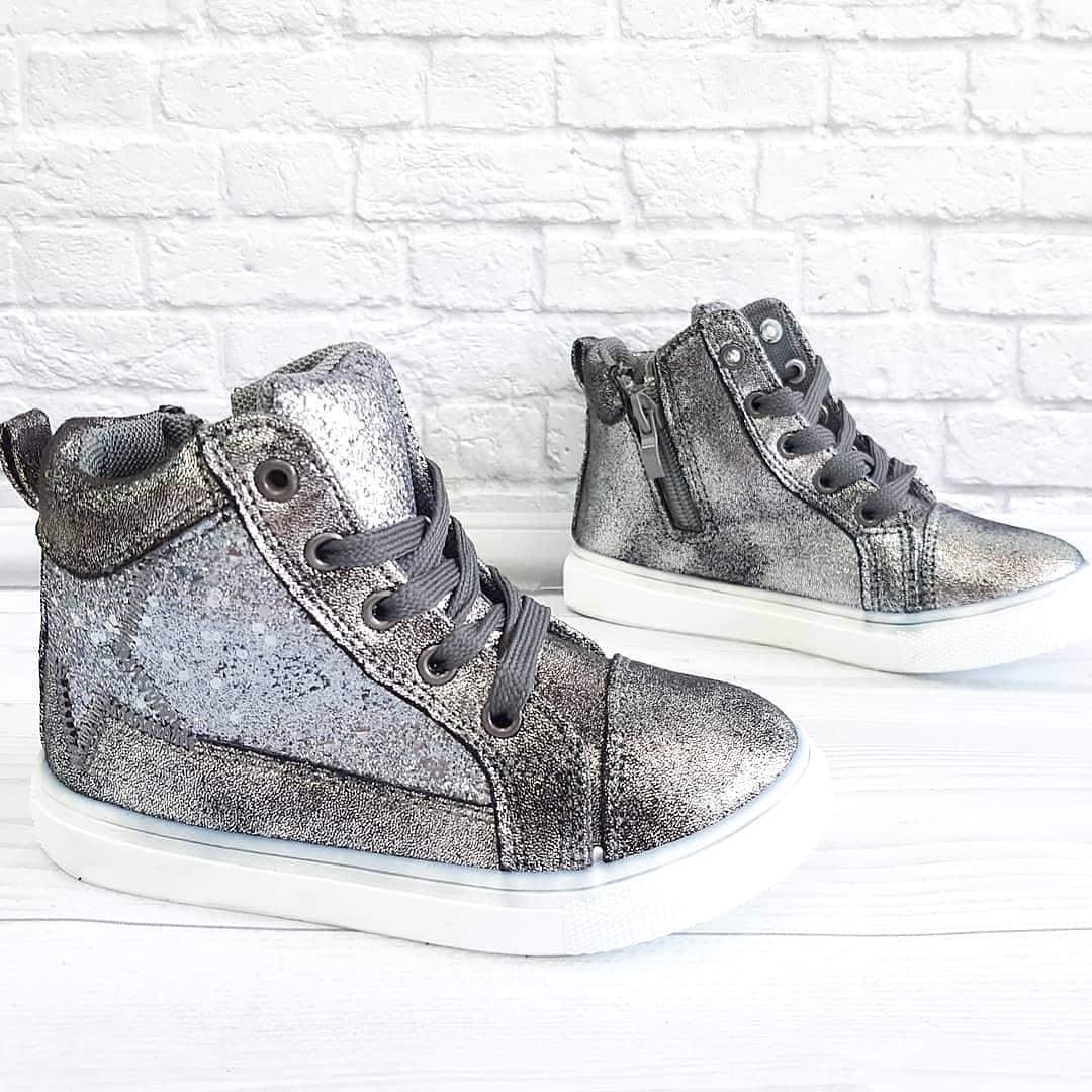 Осіннє взуття для дівчинки на шнурівках та замочку. Розмір:24-25.