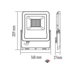 MAXUS 1-MAX-01-LFL-3050 Прожектор светодиодный 30W, 5000 K, IP65