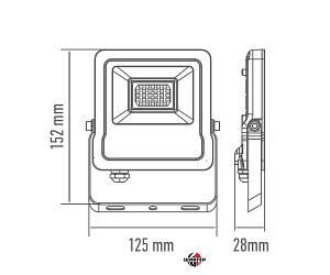 MAXUS 1-MAX-01-LFL-2050 Прожектор светодиодный 20W, 5000 K, IP65