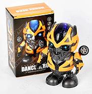 Интерактивная игрушка танцующий  робот трансформер Бамблби со световыми и звуковыми эффектами (KG-341), фото 5