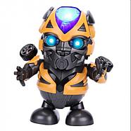 Интерактивная игрушка танцующий  робот трансформер Бамблби со световыми и звуковыми эффектами (KG-341), фото 6